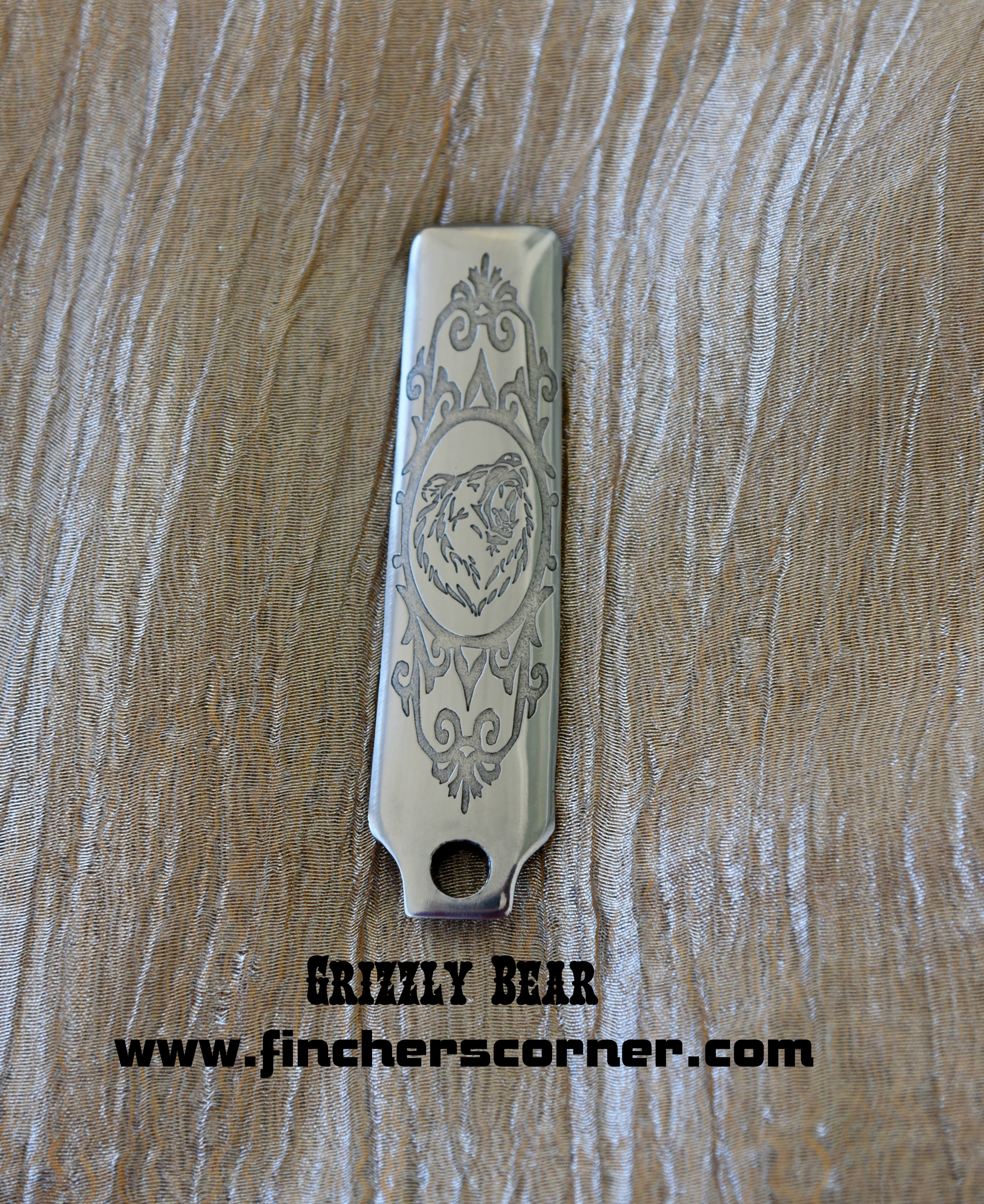 Polish & Background Relief Engraved Service on Your Steel or
